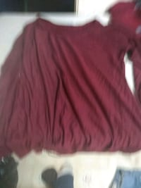 red scoop neck long sleeve shirt Calgary, T2A