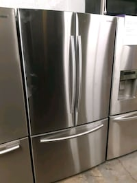 SAMSUNG STAINLESS STEEL FRENCH DOORS FRIDGES WORKING PERFECTLY 4 MONTH