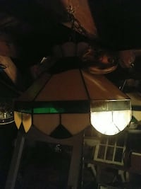 white and green tiffany style pendant lamp Cornwall, K6J 2S3