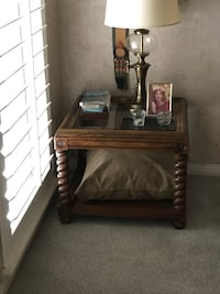 brown wooden 2-tier side table Houston, 77002