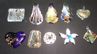 Fused Glass Pendant Charms