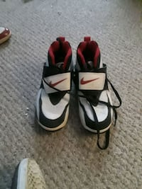 pair of black-and-white Nike basketball shoes North Providence, 02904