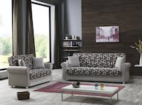 BRAND NEW BEIGE SOFA AND LOVESEAT WITH STORAGE ADJUSTABLE TO A BED Clifton, 07013