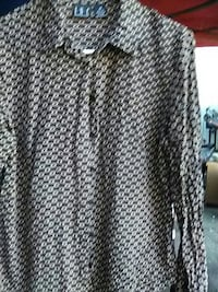 black and gray button-up dress shirt National City, 91950