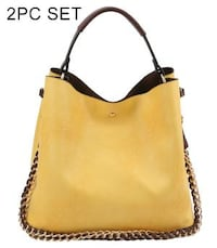 2 in 1 Soft Faux Leather Bag (YELLOW) Dallas