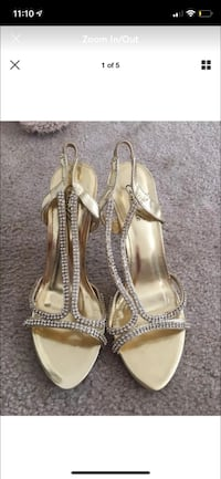 Gold Rhinestone Heels Wedding Shoes sz 8 Manassas, 20111