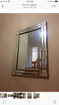 Large gold wall mirror 45inch length x 33 inch width Vaudreuil-Dorion, J7V