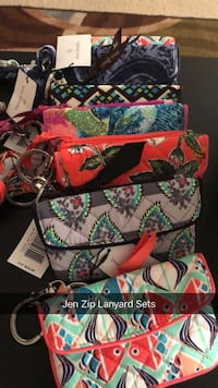 women's assorted-color wallets with text overlay