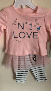 toddler's pink long-sleeved top and pants Edmonton, T6C 2B1