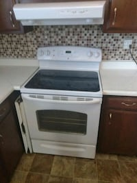 white and black glass induction range oven Silver Spring, 20907