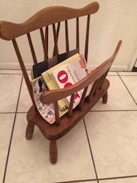 Magazine rack solid maple proudly made in USA Los Angeles, 91306