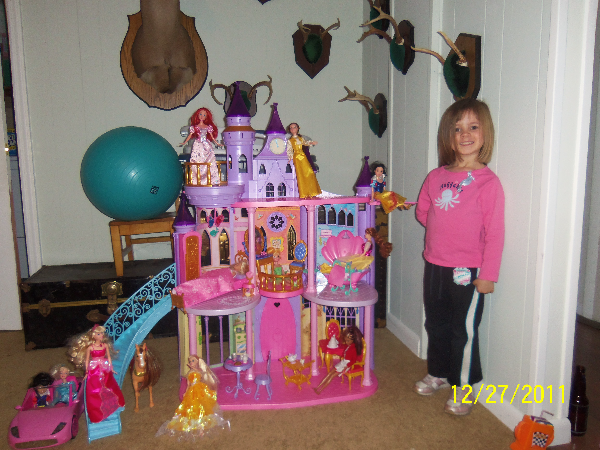 Barbie Disney princess castle New Scotland, 12186