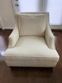 Elegant Ivory Armchair with Nailheads Falls Church, 22043