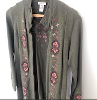 Sundance Embroidered Olive Bohemian Long Sweater/Duster Herndon, 20170