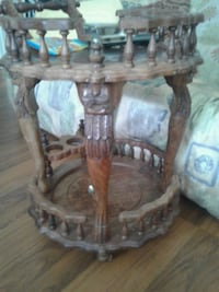 round brown wooden 2-layer table Victoria, V8W 2G5