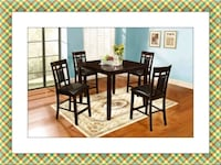Counter Height Dining Table New with Chairs High Quality Elkridge, 21075