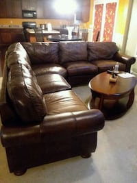 Pure all leather sectional Austell, 30106