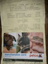 Petco merchandise card 2242 mi