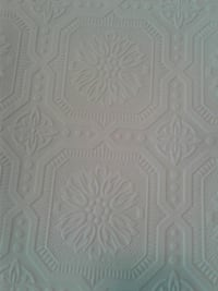 Tin Type White Wallpaper.