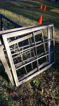 Antique window frames and window glass