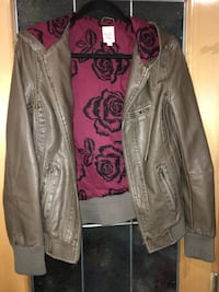 Faux Leather Hooded Jacket from Twik