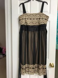 Black and Gold sleeveless dress  Frederick, 21702
