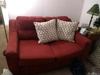 Loveseat and pillows