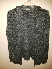black and gray knitted cardigan Ajax, L1T 1T1