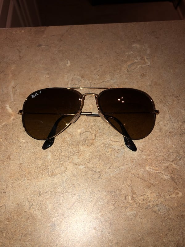 Polarized light brown/gold trim sunglasses- gently used 7c8f7329-15eb-4b04-a096-40a0a006570a
