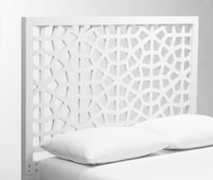 Yes it's available- Morrocon white headboard.