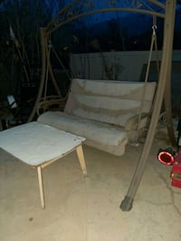 3 seater outdoor swing needs work reuphoulster  Sandy, 84094