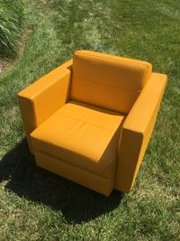 Yellow leather chairs (4 available, buy as many as you want) 14 km