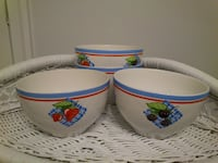 Set of 4 RB Bernarda Berry Bowls from Crate and Barrel  West Springfield