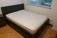 white mattress and black wooden bed frame Toronto, M2J 1A8