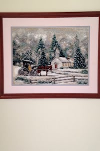 Framed picture of Church in Wintery Scene Fairfax Station, 22039