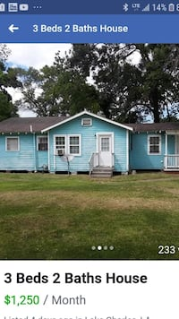 HOUSE For Rent 3BR 2BA Lake Charles