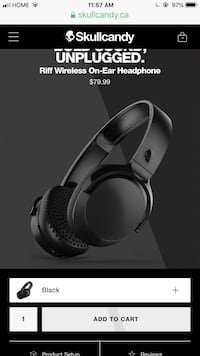 Skullcandy riff wireless headphones Toronto, M9V 1K1
