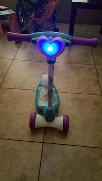 toddler's purple and blue kick scooter 2059 mi