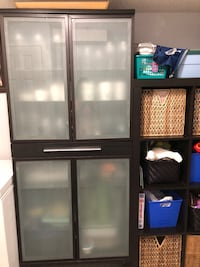 Black frosted ikea cabinet New Tecumseth, L9R 1C3
