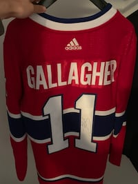 BRENDAN GALLAGHER AUTOGRAPH JERSEY ADIDAS MONTREAL CANADIENS HABS
