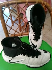 pair of white-and-black Nike basketball shoes Port St. Lucie, 34953