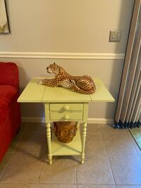 Yellow/ limeish green accent side table