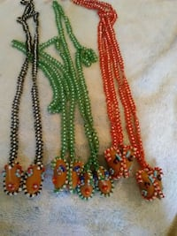 Vintage handmade beaded Indian Moccasins necklace Mobile
