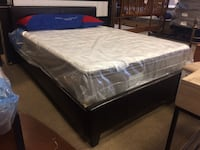 Espresso Faux Leather Full Platform Bed Frame Only Phoenix, 85018