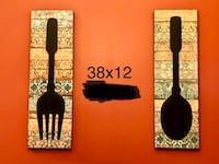 Wall decor Fork and spoon chalk board from Pier One