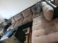 Tan and Chocolate Sectional w/Ottoman Chicago, 60613