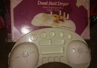 white Dual Nail Dryer with box