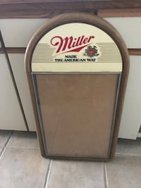 Large Miller advertising case. 1980' vintage   Accokeek