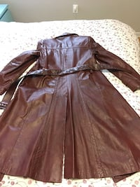 leather jacket for men red wine color, size 38 or XL, good condition Toronto