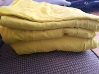 Yellow twin bed sheets